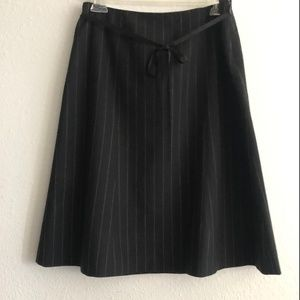 J.Crew Fully lined Black A line Pin Stripe Skirt 4